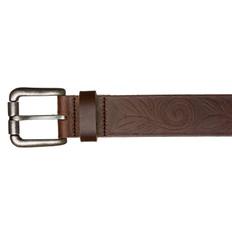Kiwi Country Leaf Design Leather Belt