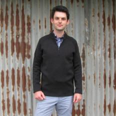Silver Stream Two Tone Zip Neck Sweater