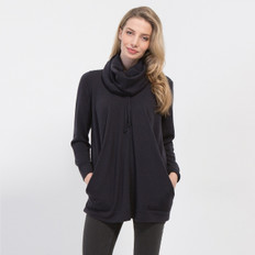 Optimum Oversize Slouchy Cowl Neck Top
