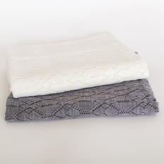 Silverstream Merino Wool Lace Baby Blanket (X5555)