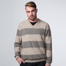Possumdown Merino - Possum Mesh Stripe Jumper