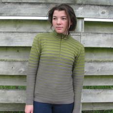 Silverstream Merino Half Zip Striped Sweater