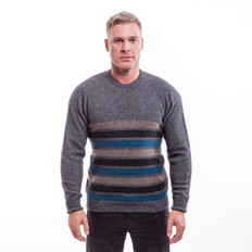 McDonalds Merino - Possum Stripe Crew Neck Jumper