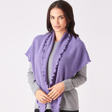 Royal Merino Mosss Stitch Triangle Wrap