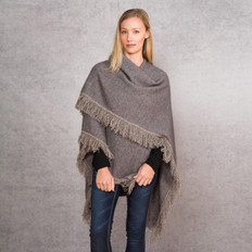 Noble Wilde Merino - Possum Fringed Cape