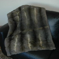 'Collezione' 12 Skin Possum Fur Throw
