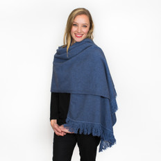 Noble Wilde Merino -  Possum Fringed Shawl