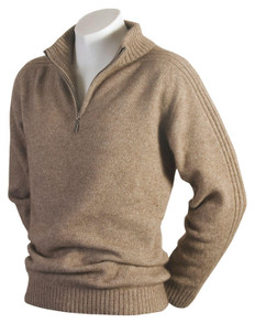 Mc Donalds Short Zip Rib Sleeve Merino-Possum Sweater