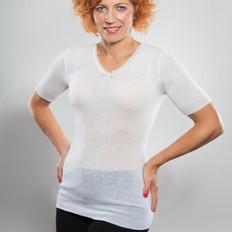 From Merino with Love Sweetheart Short Sleeve Merino Undergarment