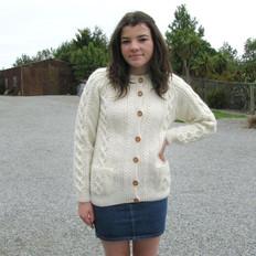 Handknitted 'Olwyn' Aran Wool Cardigan
