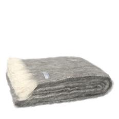 Windermere Brushed Natural Alpaca Throw - Granite