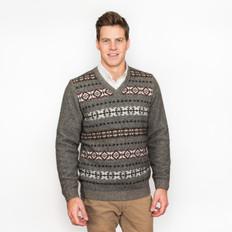 Noble Wilde Merino - Possum Fairisle Front Sweater