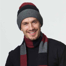 Possumdown Merino - Possum Block Stripe Beanie