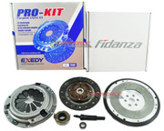 EXEDY CLUTCH KIT & FIDANZA ALUMINUM FLYWHEEL 2001-05 HONDA CIVIC 1.7L SOHC D17
