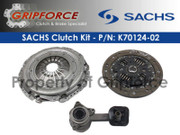 Sachs OEM Clutch Kit and Slave Cyl 2000-2004 Ford Focus ZX3 ZX5 ZTS Ztw 2.0L I4 DOHC