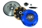 FX Kevlar Clutch Kit & HD Nodular Flywheel Set for JDM 93-95 Honda Civic 1.6L B16 DOHC VTEC