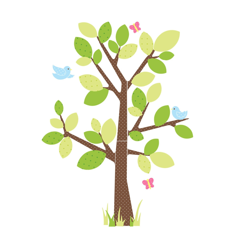 kids tree wall stickers roommates birds amp love tree wall decals for kids rooms