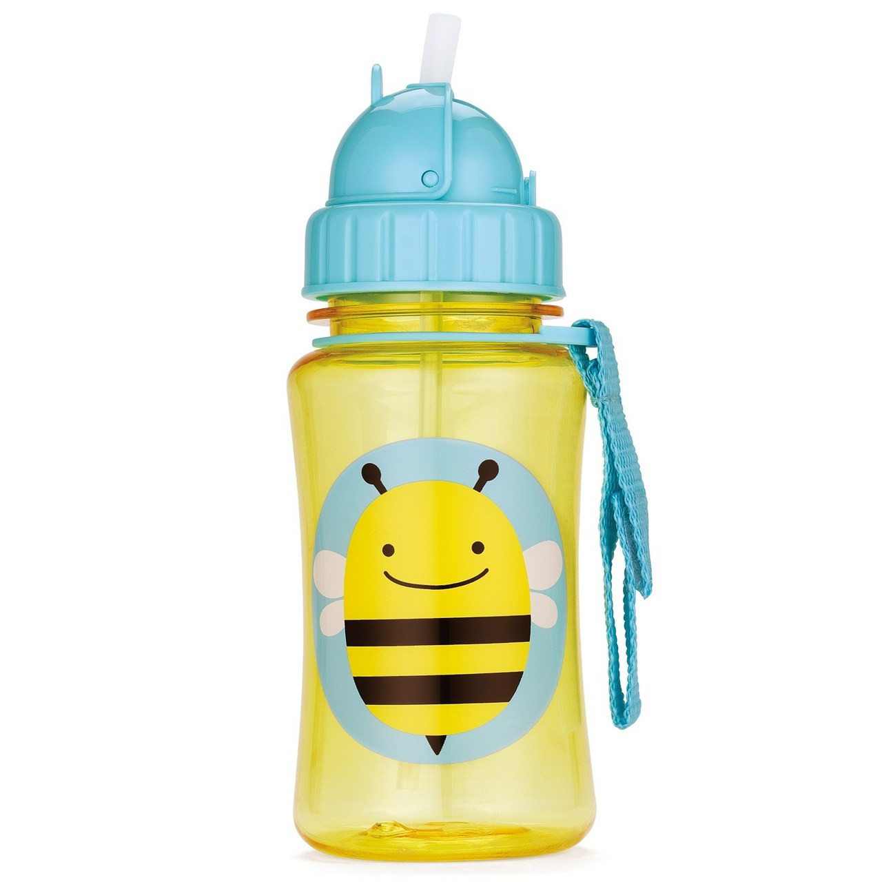 Skip Hop Straw Bottle Bee - Childrens Water Bottle