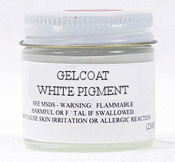 White Gelcoat Toner Pigment