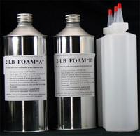 2 lb pour foam as injection kit. Polyurethane PU Foam A B Two Part Components