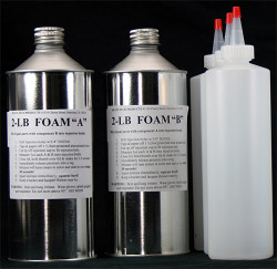 Industrial Grade Injection Polyurethane Foam Kit (A-B Components) - 2 lb. Density