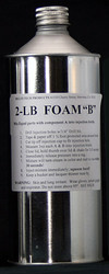 2 LB pound foam as separate components. A or B side. inject, pour or flotation, tub bottom inlay assists stopping movement & builds strength structural support