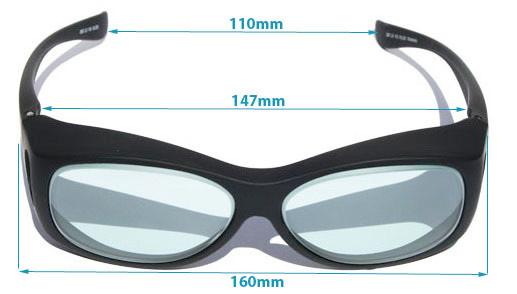 LG-021 Holmium Laser Glasses Dimensions