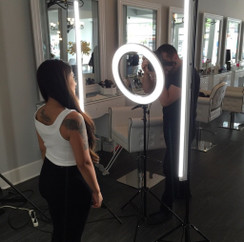 "Stellar 2 Linear Light Panel + 1 Mini Diva Ring Light  12""  + 3 stands  Kit"