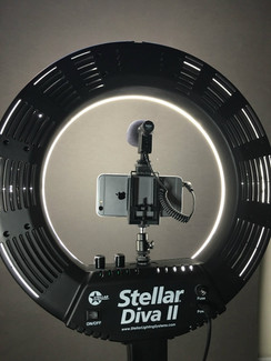 Stellar LED  Diva II Ring Light with Shotgun Mic