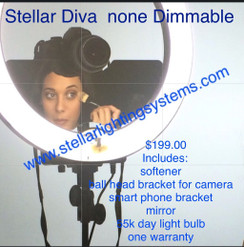 Stellar Diva 18 inch Ring Light Without Dimmer (CFL-R18C-ND)