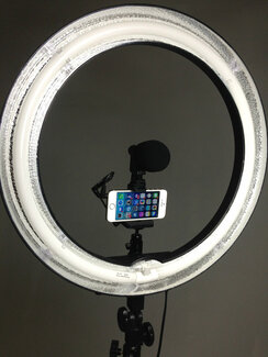 "Original  Diva CEL-R18C 18"" Fluorescent Ring Light with Dimmer, Softener+7'f Stellar Stand+Shotgun Microphone"