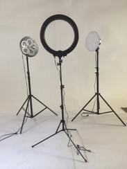 "***NEW PRICE*** Stellar Photo/Video Kit - 2 Lotus Lights + Stellar Mini Diva Ring Light 12"" + 2 Stands + 1 Boom Stand"