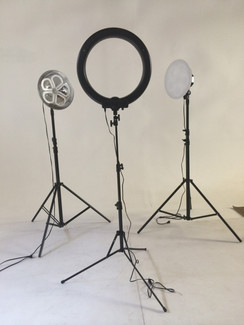 Stellar Photo/Video Kit  2Lotus Lights+ 2Metal Stands+1 Boom Stand + Stellar Diva Ring Light  12""