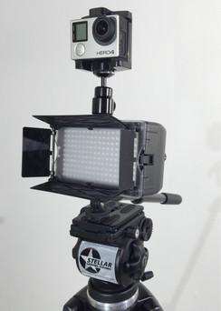 Stellar 180-MAX LED  Go Pro Setup, Effective Up To 30 Feet.