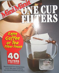 MiniMinit One Cup Tea filters 40s