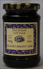 Thursday Cottage Preserves Jams Blackcurrant 340g jar