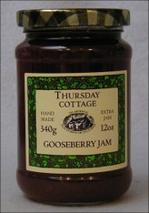 Thursday Cottage Preserves Jams Gooseberry 340g jar