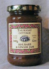Thursday Cottage Preserves Rhubarb and Ginger 340g jar