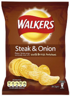 Steak & Onion flavored crisps from walkers