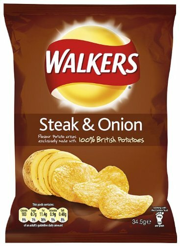 Steak & Onion flavored crisps from walkers