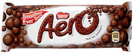 Nestle Aero Milk Chocolate bar