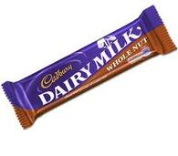 Cadburys Dairy Milk Whole nut Chocolate bar 49g