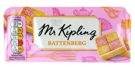 whole battenberg cakes