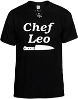 Chef Leo (with Knife) Novelty T-Shirt