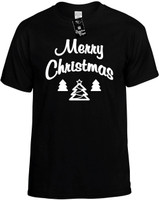 Merry Christmas (with trees) Novelty T-Shirt