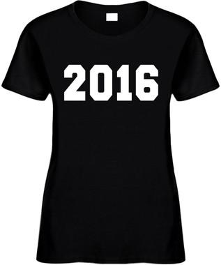 2016 (New Years, Holiday) Novelty T-Shirt
