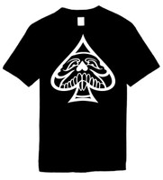 ACE OF SPADES SKULL) Novelty T-Shirt