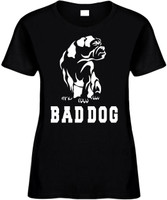 BULLDOG BAD DOG (animal) Novelty T-Shirt
