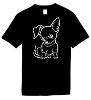 CHIHUAHUA DOG) Novelty T-Shirt