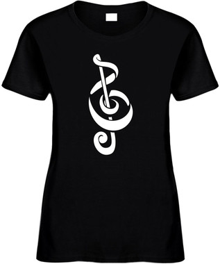 CLEFT NOTE (music notes swirly) Novelty T-Shirt